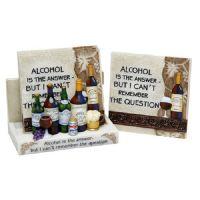 Classic Alcohol Coaster Set