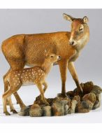 Red Deer with Fawn Tender Moments